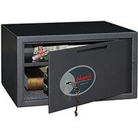 Phoenix Vela Deposit Home & Office SS0803KD Size 3 Security Safe with Key Lock Metalic Graphite 34L