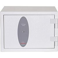 Phoenix Citadel SS1191K Size 1 Fire & S2 Security Safe with Key Lock White 18L 30mins Fire Protection