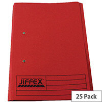 Rexel Jiffex Foolscap Pocket File Red Pack of 25 43318EAST