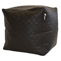 Elephant Cube Chair 350x350x400mm Urban Black Quilted