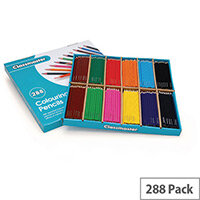 Classmaster Assorted Classroom Colouring Pencils in Display Box Pack of 288 CP288