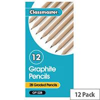 Classmaster Classroom Graphite 2B Pencil Pack of 12