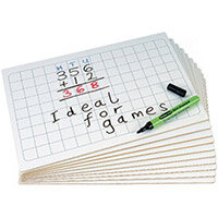 Show Me Boards - MDF Gridded Pack of 10