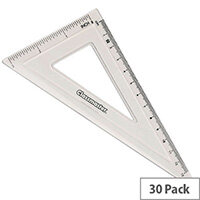 Classmaster 60 Degree Set Square Clear Pack of 30 S60/30