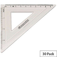 Classmaster 45 Degree Set Square Clear Pack of 30 S45/30