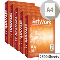 Artwork A4 White Paper 75gsm 2500 Sheets EH00432