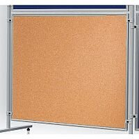 Double Sided Cork Notice Board 1200 x 1200mm Franken Eco Partition System Module