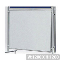 Double Sided Magnetic  Whiteboard 1200 x 1200mm Franken Eco Partition System Module