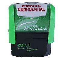 Colop Green Line Word Stamp PRIVATE & CONFIDENTIAL P20GLPRI