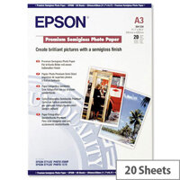 Epson A3 Semi-Gloss Premium Photo Paper (Pack of 20)