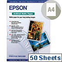 Epson A4 Archival Matte Printer Paper Pack of 50