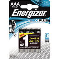 Energizer Max Plus AAA Batteries Pack of 4 E301321400