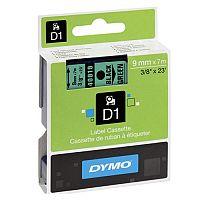 Dymo 1000/5000 Tape 9mm x7m Black/Green 40919 S0720740