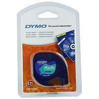 Dymo Letratag Plastic Tape 12mm x4m Dark Green S0721640