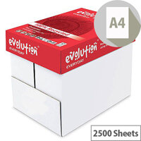 Evolution Everyday A4 80gsm White Recycled Printer Paper Box of 2500 Sheets EVE2180