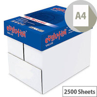 Evolution Value A4 80gsm White Printer Paper Box of 2500 Sheets EVV2180