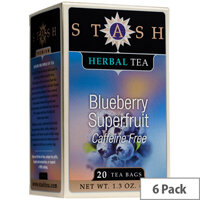 Stash Blueberry Speciality Teas 20 Bags Pack of 6