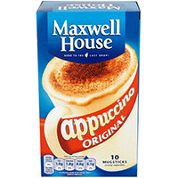 Maxwell House Cappuccino Reg 170g Pack of 5