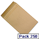 C4 Mediumweight Manilla Envelopes Pocket Press Seal Pack 250 5 Star Ref F90022