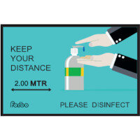 Keep Your Distance - Please Disinfect Non Slip Mat  1.15m x 0.8m