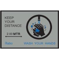 Keep Your Distance - Wash Your Hands Nylon Non Slip Mat 1.15m x 0.8m