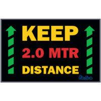 Keep 2 Meter Distance Non Slip Mat 1.15m x 0.8m