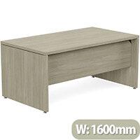 Fermo Executive Office Desk W1600mm Arctic Oak