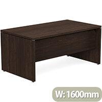 Fermo Executive Office Desk W1600mm Dark Walnut