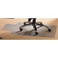 Cleartex PVC Chair Mat for Hard Floors Rectangular 1210x2000mm Clear