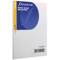 Filofax Personal Ruled Paper White 30 Sheets 133008