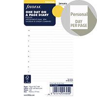 Filofax Personal Day Per Page 2020 Refill 20-68441