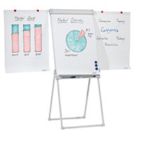 Franken DeLuxe Magnetic Tetrapod Flipchart Easel with 2 Extension Arms FC84
