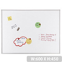 Franken ECO Magnetic Whiteboard Enameled Steel 600 x 450mm White SC4212