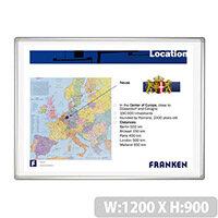 Franken PRO Projection Whiteboard Aluminium Frame H900 x W1200mm