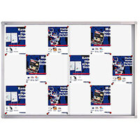 Franken Display Case PRO Magnetic Whiteboard 18 x A4 SK6118