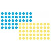 Franken Self-adhesive Marker Points 19mm dia Blue and Yellow Pack of 1040