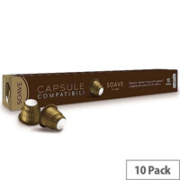 Soave Nespresso Compatible Coffee Pods Pack of 10 Capsules