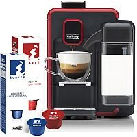 Caffitaly S22 Red & Black System Coffee Machine - Includes a Starter pack of 20 Coffee Pods