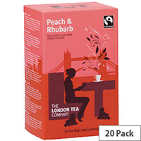 London Tea Peach and Rhubarb Tea Pack of 20 FLT19155