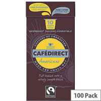 Cafedirect Nespresso Compatible Coffee Pods Americano Pack of 100 FCR0031
