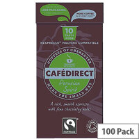Cafedirect Nespresso Compatible Pods Peruvian Spirit Pack of 100 FCR0034