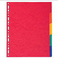 Exacompta A4 Maxi Pressboard Dividers 5 Part 2405E