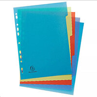Forever Recycled Polypropylene A4 5 Part Dividers 2705E