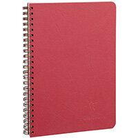 Clairefontaine Age Bag Wirebound Notebook A5 Red Pack of 5 785362C