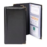 Goldline Business Card Holder Deluxe Stitched Black Capacity 96 SBC3P/Black