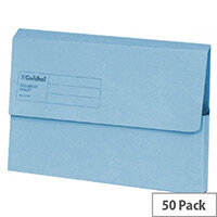 Guildhall Foolscap Document Wallet Blue Pack of 50 GDW1-BLU