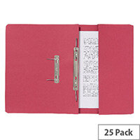 Guildhall Pocket Spiral File Red 347-Redz Pk25