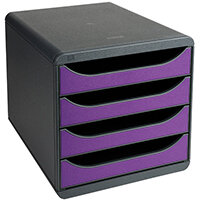 Iderama Big Box 4 Drawer Set Purple 310720D