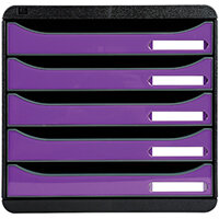 Iderama Big Box Plus 5 Drawer Set Purple 3097220D