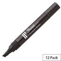 Sharpie Permanent Marker W10 Black Blister Pack 12 S0192667